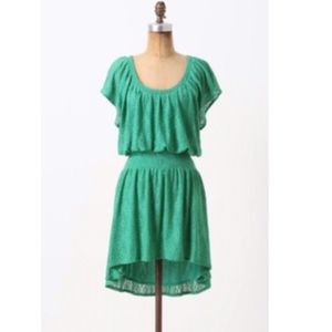 Leifnotes Anthropologie Smocked Lace Dress